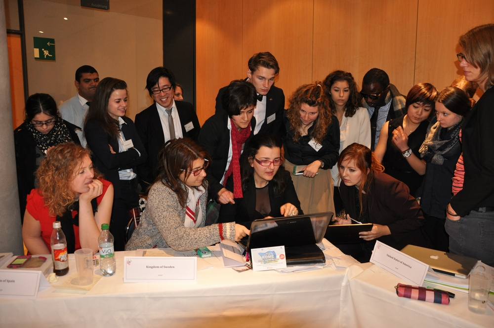"Das United Nations Development Programme im ""unmoderated caucus"" (Copyright: Freya Dombach)"