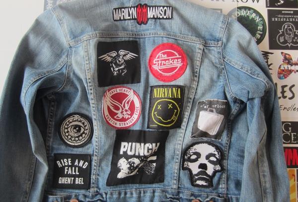 Jeansjacken patches
