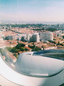 Lissabon Anflug - europäische Reisefreiheit