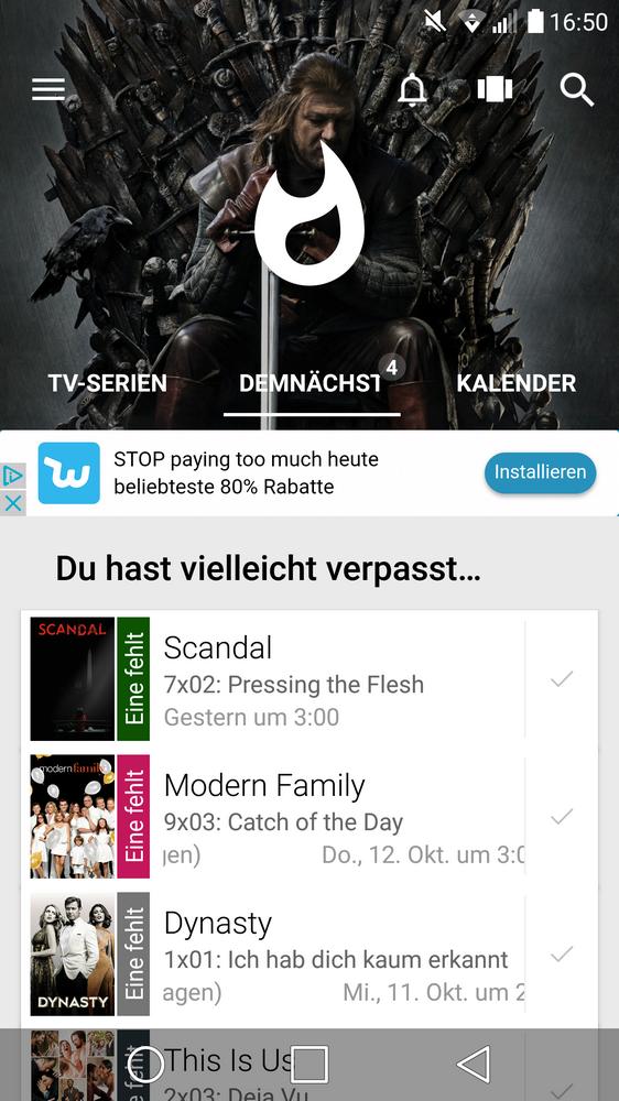 Tv-Serie - Nützliche App für den Alltag
