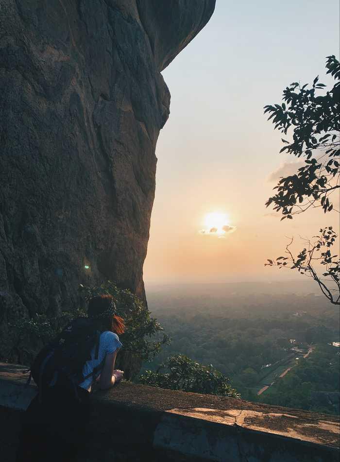 Sigiriya-Lion-Rock-Sonnenuntergang