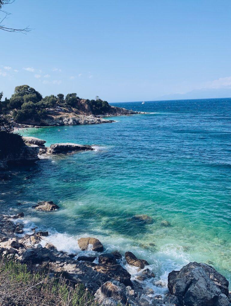Kassiopi Strand Korfu Griechenland