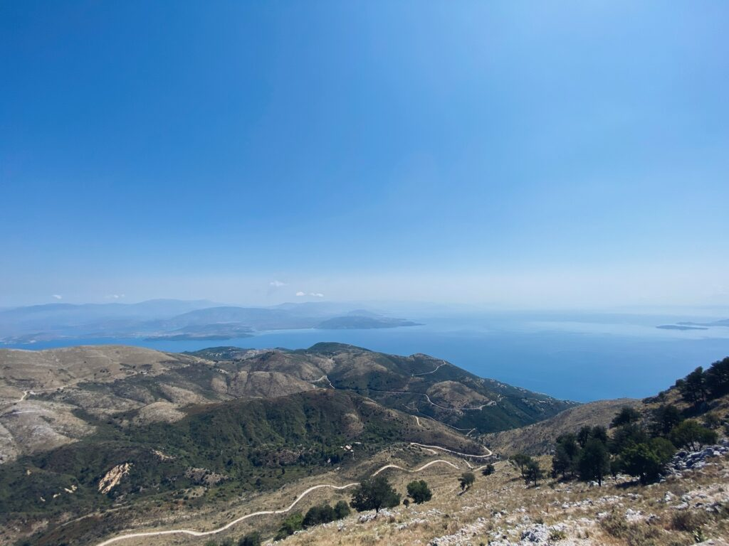 Pantokrator Aussicht Korfu Griechenland