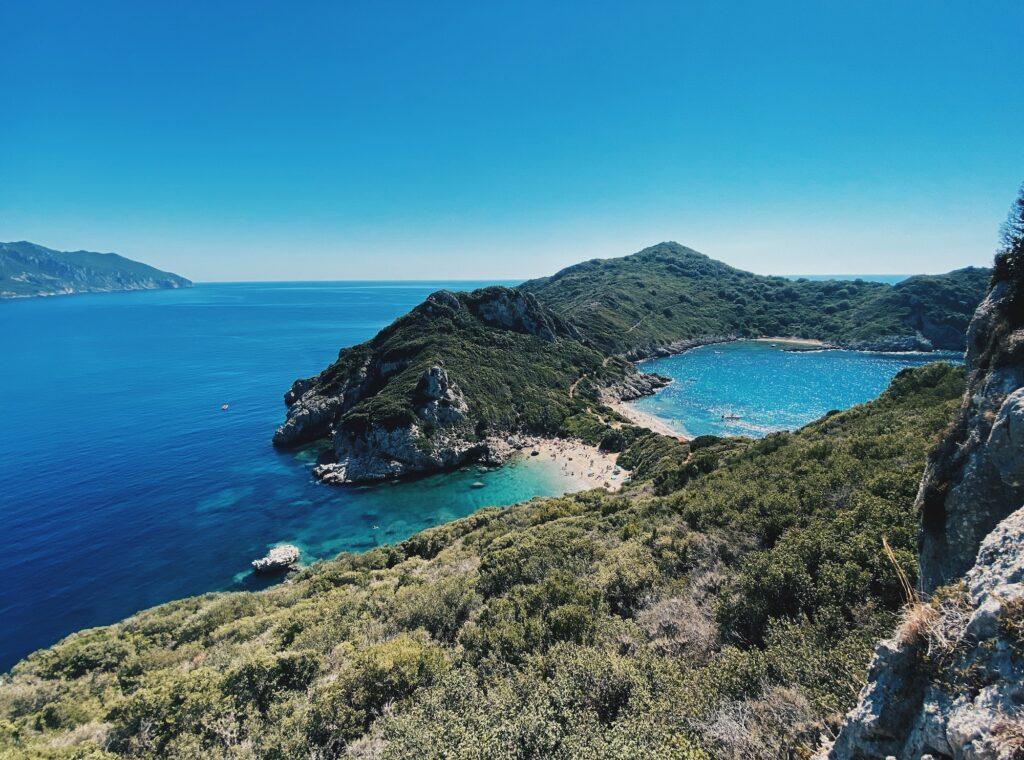 Porto Timoni Bucht Korfu Griechenland