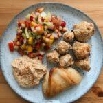 Vegetarische Gerichte Blumenkohlnuggets