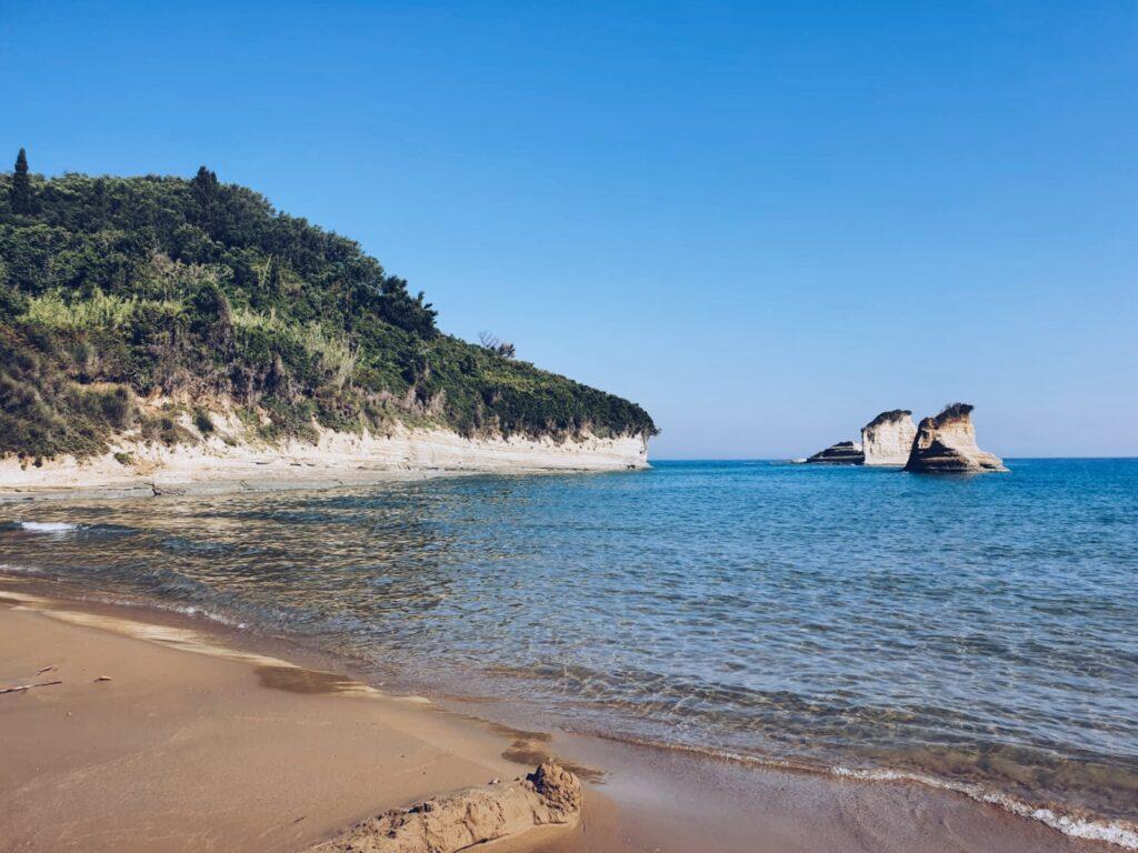 Korfu Sandstrand Apotripi Beach