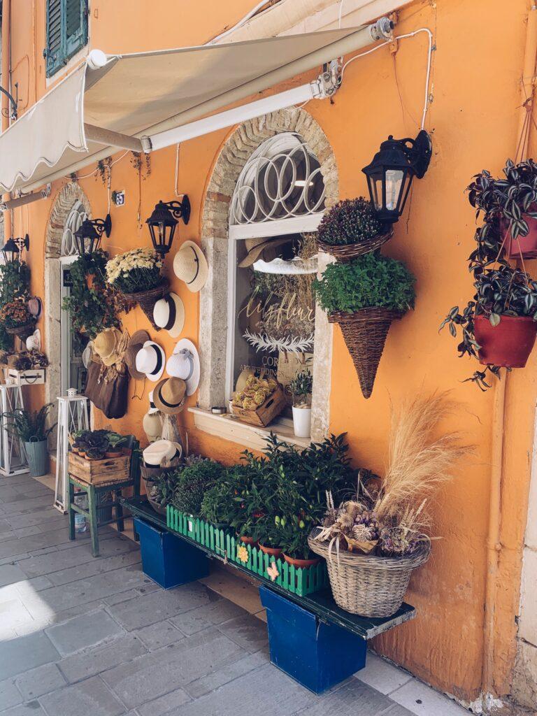 Korfu Stadt Shopping Symbolbild