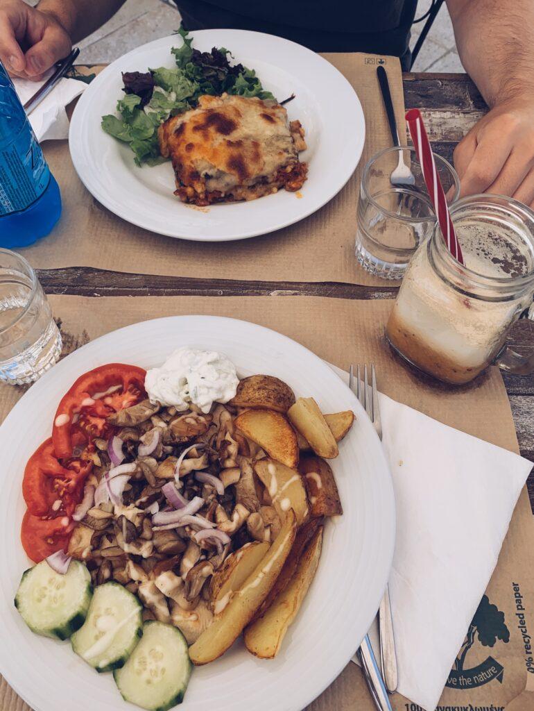 Korfu Vegetarisch Essen Aubergine Cafe